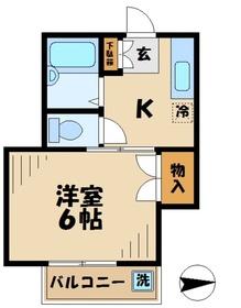 ハイテック3番館2階Fの間取り画像