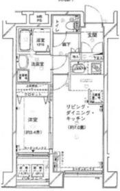 ヴェルト横濱石川町2階Fの間取り画像