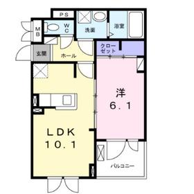 HK3階Fの間取り画像