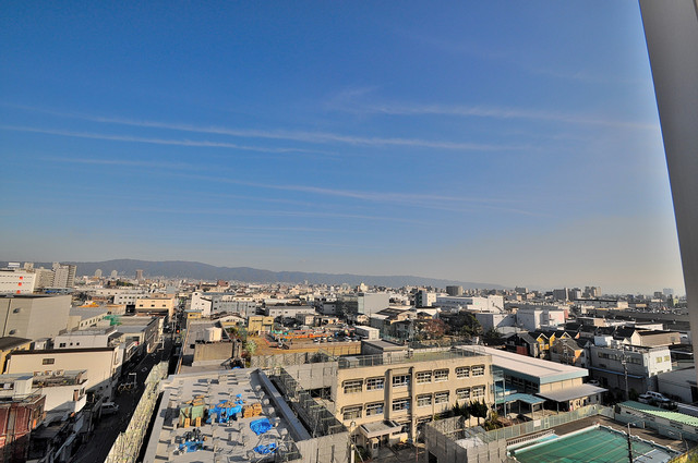 CASSIA高井田NorthCourt この見晴らしが日当たりのイイお部屋を作ってます。