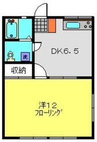 堀江ハイツ2階Fの間取り画像