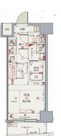 クレヴィスタ横浜新子安4階Fの間取り画像