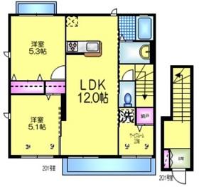 グランドハイムⅡ2階Fの間取り画像