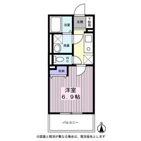 エクセランコート2階Fの間取り画像