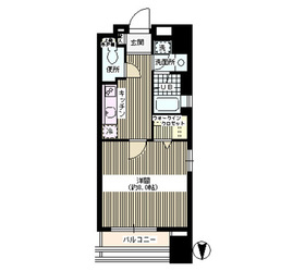 サンゼウス亀戸9階Fの間取り画像