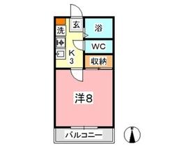 カランドリエ松島2階Fの間取り画像