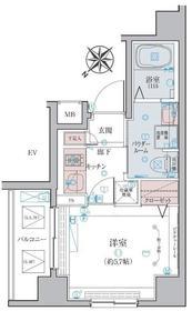 リヴシティ横濱蒔田ステーションアリーナ7階Fの間取り画像