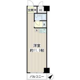 NICアーバンハイム鶴見中央2階Fの間取り画像