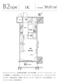 グランドコンシェルジュ六本木16階Fの間取り画像