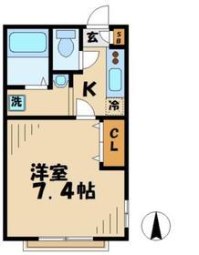 スマイルハウス2階Fの間取り画像