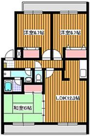 地下鉄赤塚駅 徒歩16分3階Fの間取り画像