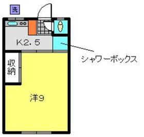 ハイツサタカ2階Fの間取り画像