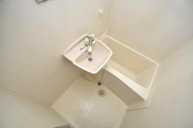 雅ハイツⅠ ちょうどいいサイズのお風呂です。お掃除も楽にできますよ。