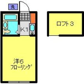アップルハウスエポック2階Fの間取り画像