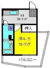 丸松ビル5階Fの間取り画像