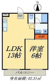 インペリアル・ディユ5階Fの間取り画像
