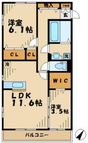 ピアチェボーレ1階Fの間取り画像