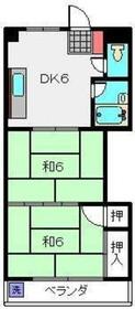 鶴見駅 バス10分「法泉寺前停」徒歩4分2階Fの間取り画像