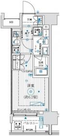 アーリアシティ川崎12階Fの間取り画像