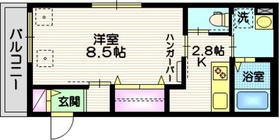 (仮称)大崎4丁目メゾン2階Fの間取り画像