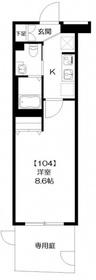 フェルクルールプレスト亀戸1階Fの間取り画像