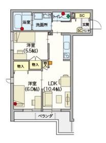へーベルVillage竹ノ塚2階Fの間取り画像