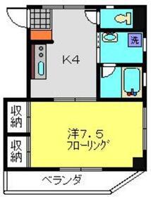 メゾンドエスト2階Fの間取り画像