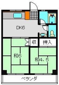 第一斉藤マンション3階Fの間取り画像