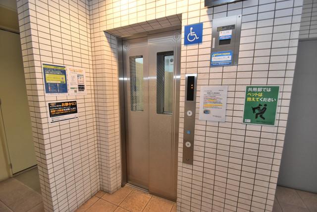 コンチネンタル東小橋 嬉しい事にエレベーターがあります。重い荷物を持っていても安心