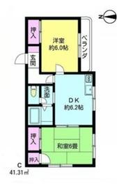 西高島平駅 徒歩16分2階Fの間取り画像
