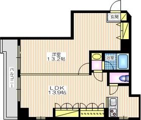元町田澤リベラビル3階Fの間取り画像