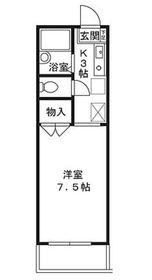 シグナスリーフ2階Fの間取り画像