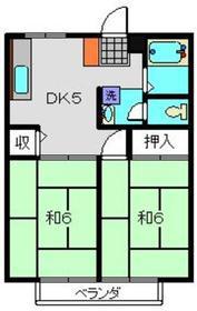 ポロハウスAコート2階Fの間取り画像