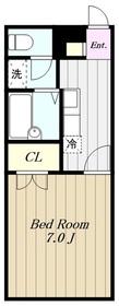 アムール小松1階Fの間取り画像