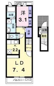 ラウエストブリーズ2階Fの間取り画像