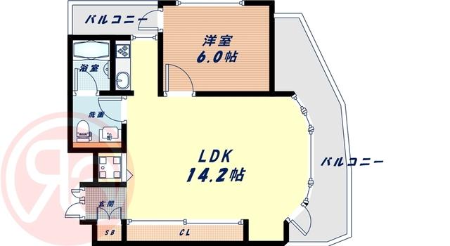 9階の間取り図