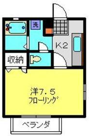 リバーサイドホーム1階Fの間取り画像
