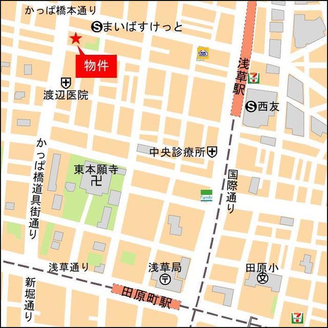 コスモグラシア浅草案内図