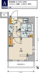 スカイコート田端第36階Fの間取り画像