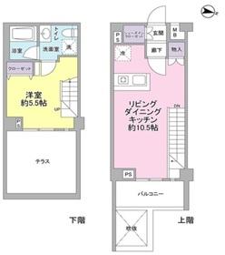 用賀駅 徒歩16分1階Fの間取り画像