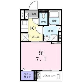 大岡山駅 徒歩7分2階Fの間取り画像