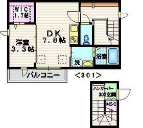 荏原中延駅 徒歩4分2-3階Fの間取り画像