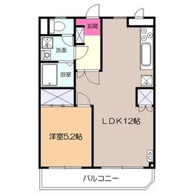メゾン・ド・ツナキ3階Fの間取り画像