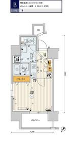 スカイコートパレス駒沢大学6階Fの間取り画像