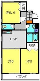 ジョイフルハイム3階Fの間取り画像