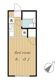 シャルム若松2階Fの間取り画像