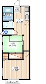 シティハイム STAGE21階Fの間取り画像