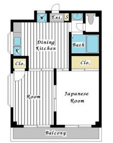 ミユキハイツⅡ2階Fの間取り画像