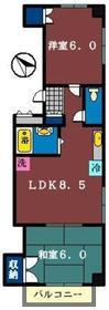 コゼットマンション4階Fの間取り画像