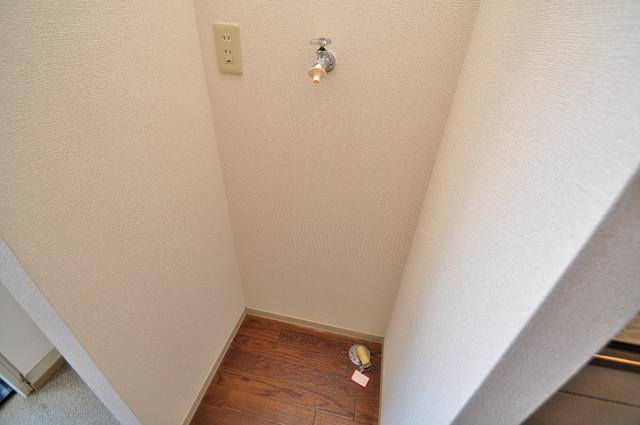ブリエール布施A棟 室内に洗濯機置き場があれば雨の日でも安心ですね。